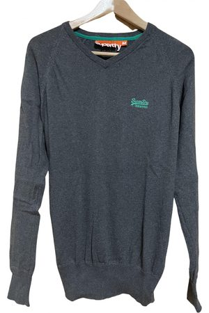 Superdry Grey Cotton Knitwear & Sweatshirts