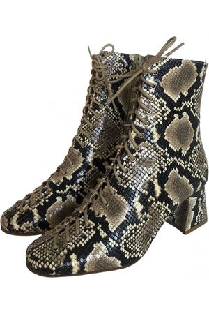 By Far \N Leather Ankle boots for Women