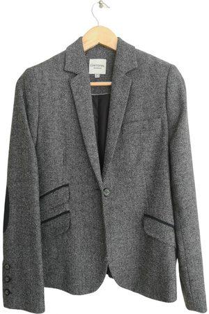 Cortefiel Grey Wool Jackets
