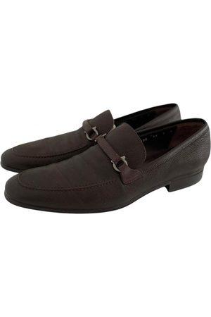 Salvatore Ferragamo Gancini Leather Flats for Men
