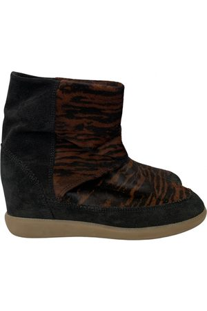 Isabel Marant Basley /black Suede Ankle boots for Women