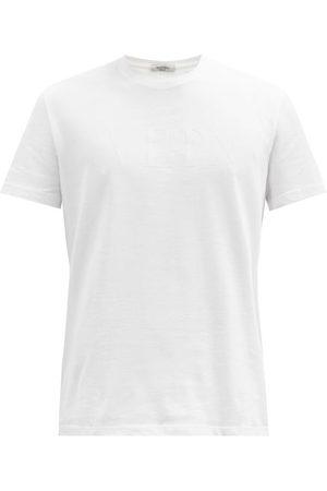 Valentino Vltn-print Cotton-jersey T-shirt - Mens