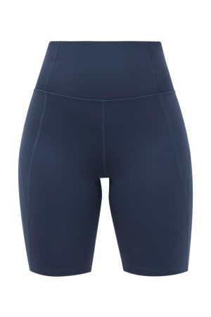 GIRLFRIEND COLLECTIVE High-rise Recycled-fibre Bike Shorts - Womens - Navy