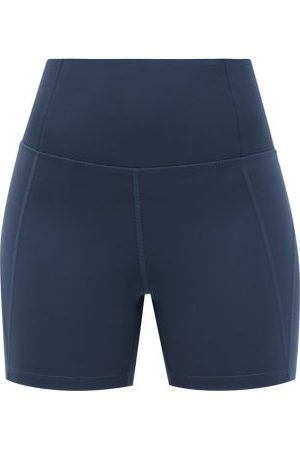 GIRLFRIEND COLLECTIVE Women Sports Shorts - High-rise Recycled-fibre Running Shorts - Womens - Navy