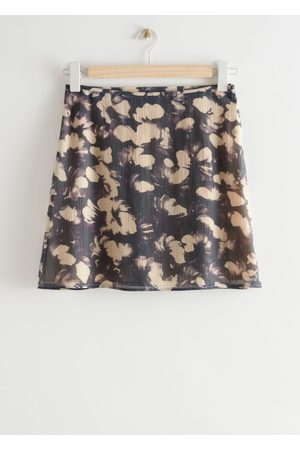 & OTHER STORIES Printed Straight Mini Skirt