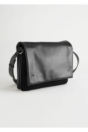 & OTHER STORIES Suede Panel Leather Crossbody Bag