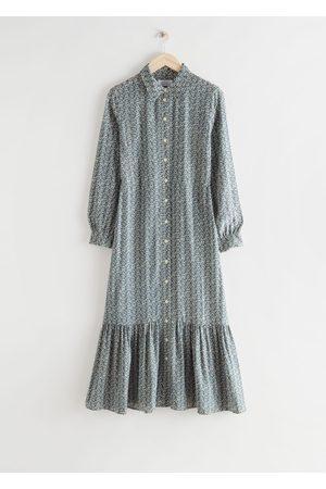 & OTHER STORIES Fluid Tiered Midi Shirt Dress