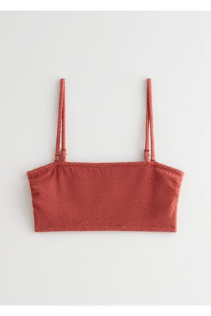 & OTHER STORIES Textured Bandeau Bikini Top