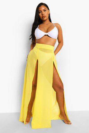 Boohoo Womens Chiffon Maxi Beach Skirt - - 4