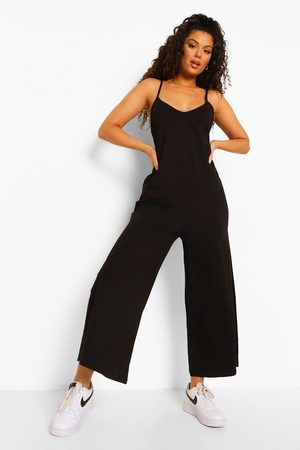 Boohoo Womens V Neck Strappy Oversized Jumpsuit - - 4