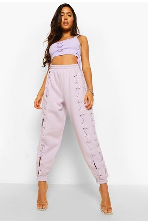 Boohoo Womens Lace Up Joggers - - S