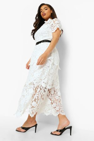 Boohoo Womens Plus Occasion Lace Tiered Midaxi Dress - - 12