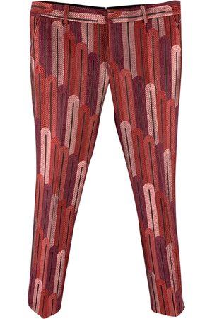 WALTER VAN BEIRENDONCK Men Pants - Burgundy Polyester Trousers