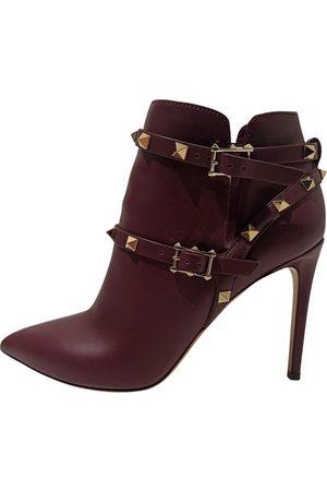 VALENTINO GARAVANI Rockstud Leather Ankle boots for Women