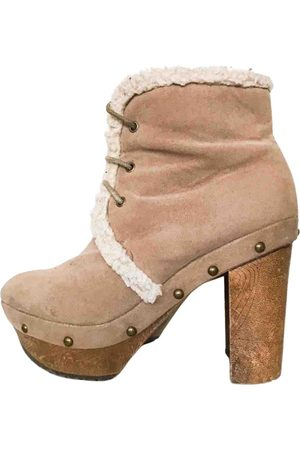 Free People \N Leather Ankle boots for Women