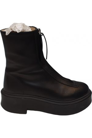 The Row Zipped 1 Leather Ankle boots for Women