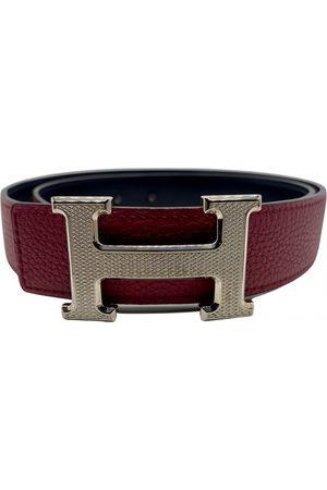 Hermès Burgundy Leather Belts