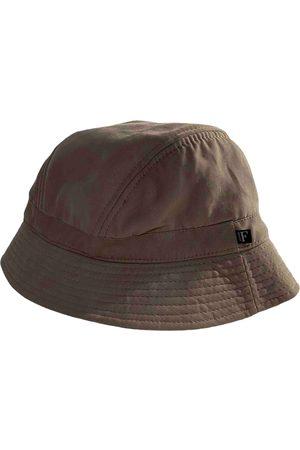 Gianfranco Ferré Camel Cotton Hats & Pull ON Hats