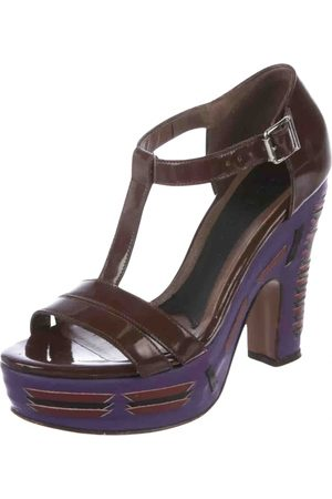 Marni \N Patent leather Mules & Clogs for Women
