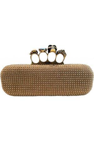 Alexander McQueen Knuckle Suede Clutch Bag for Women
