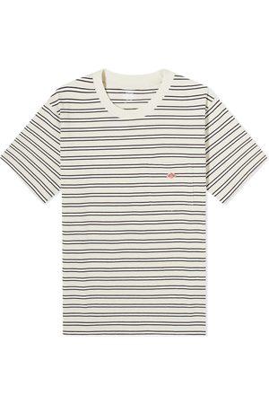 DANTON Men T-shirts - Stripe Crew Neck Pocket Tee