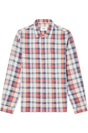 Folk Men Casual - Checked Patch Overshirt
