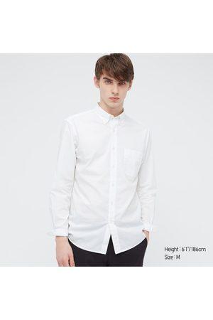 UNIQLO Men Long sleeves - Men's Extra Fine Cotton Broadcloth Long-Sleeve Shirt, , S