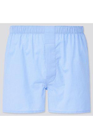 UNIQLO Men Boxer Shorts - Men's Woven Checked Boxers, , S