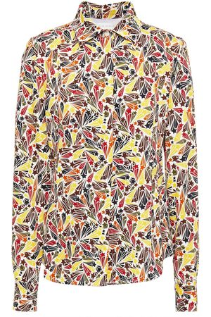 Victoria Beckham Woman Printed Crepe Shirt Size 6