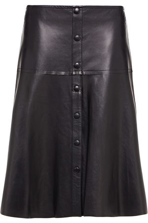 Stand Studio Woman Britney Button-detailed Leather Midi Skirt Size 36