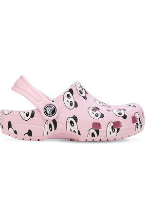 Crocs Girls Sandals - Panda Print Rubber