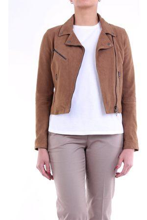 EMANUELE CURCI Leather jackets Women wot