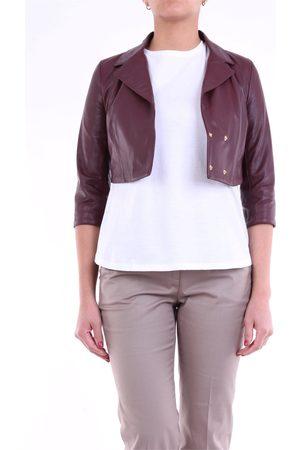 OUTFIT FABIANA BY EMANUELE CURCI Leather jackets Women Burgundy