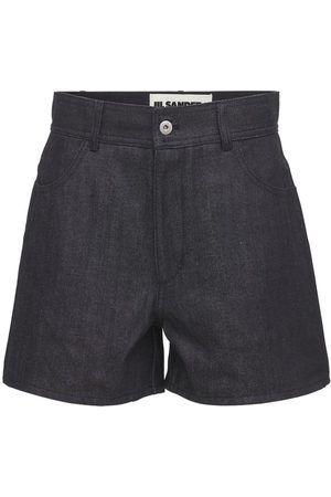 Jil Sander Cotton Denim Mini Shorts