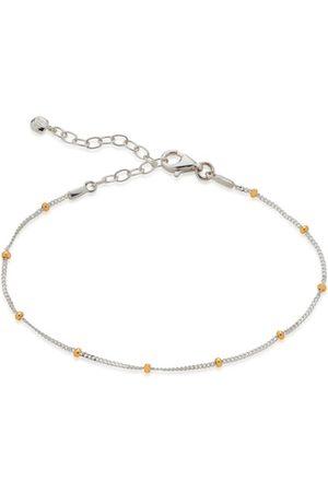 Monica Vinader Bracelets - Sterling Silver Mixed Metal Beaded Chain Bracelet