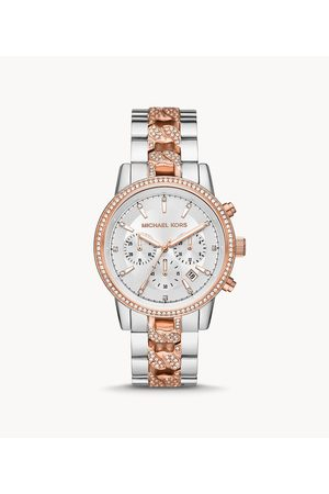 Womens Women Watches - Michael Kors Women's Ritz Chronograph Two-Tone Stainless Steel Watch - / Silver