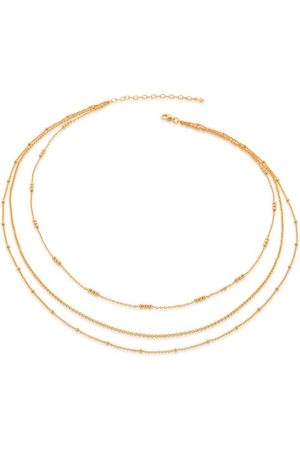 Monica Vinader Women Necklaces - Gold Layered Chain Necklace