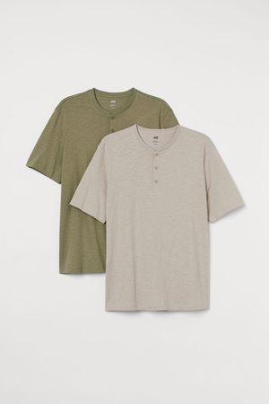 H&M Men Shirts - 2-pack Henley Shirts