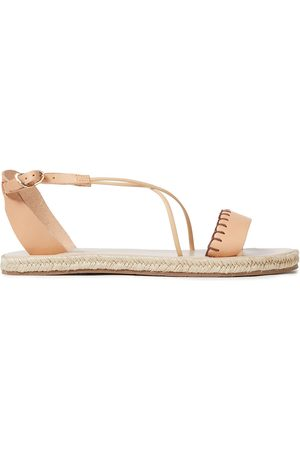 Ancient Greek Sandals Woman Lola Whipstitched Leather Espadrille Sandals Sand Size 37