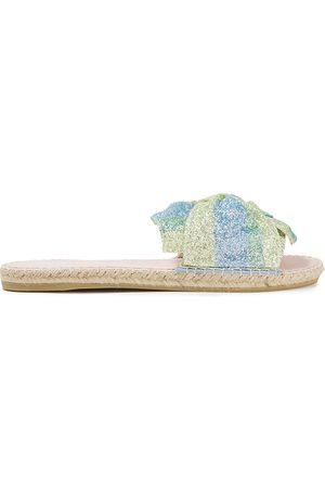 MANEBI Women Sandals - Manebí Woman Miami Knotted Glittered Striped Lurex Slides Size 35