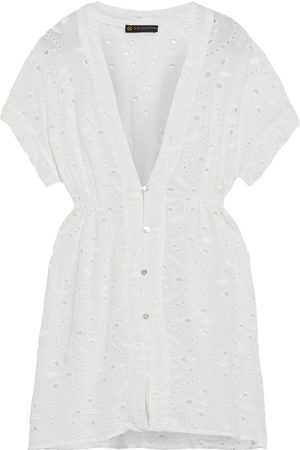 VIX PAULA HERMANNY Women Beachwear - Woman Fuji Gathered Broderie Anglaise Voile Coverup Off- Size S