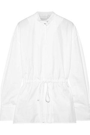 Victoria Victoria Beckham Woman Gathered Cotton-poplin Shirt Size 4