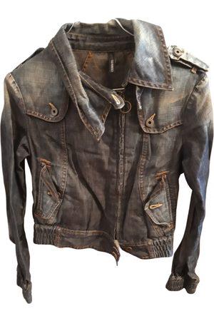 Cerruti 1881 Women Leather Jackets - \N Denim - Jeans Leather Jacket for Women