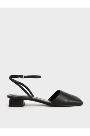 CHARLES & KEITH Women High Heels - Square Toe Ankle Strap Pumps