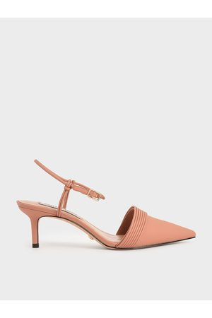 CHARLES & KEITH Women High Heels - Leather Rope Detail Pumps