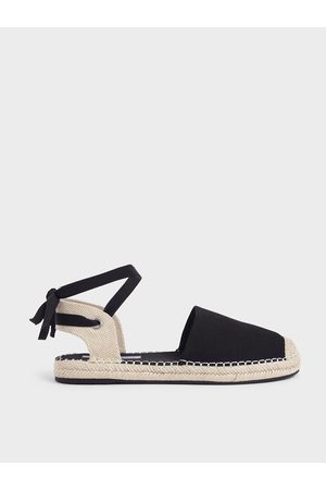 CHARLES & KEITH Women Espadrilles - Tie-Around Espadrille Flats