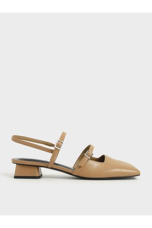 CHARLES & KEITH Women High Heels - Square Toe Mary Janes