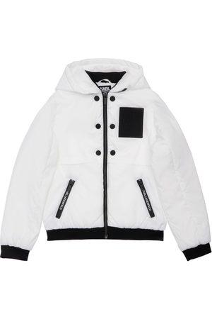 Karl Lagerfeld Boys Jackets - Hooded Nylon Jacket