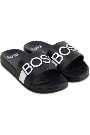 HUGO BOSS Boys Sandals - Logo Rubber Slide Sandals