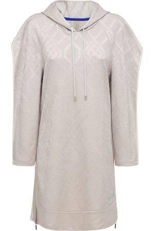 KOCHÉ Women Party Dresses - Hooded Jacquard Mini Sweat Dress